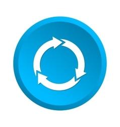 Waste processing icon vector