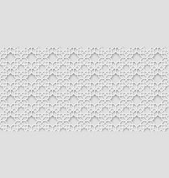 white arabic pattern islamic background vector image