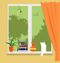 Window of a private house vector