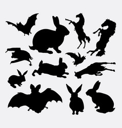 animal collection silhouette vector image