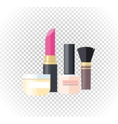 Cosmetic Lipstick Nail Isolated vector image vector image
