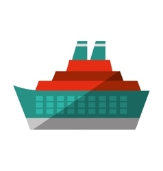 cruise ocean ship travel maritime shadow vector image