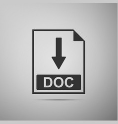doc file document icon download doc button icon vector image