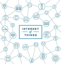 IOT Internet of Things Smart Home Quality Design vector image