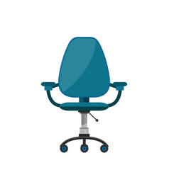 office chair flat cartoon vector image vector image