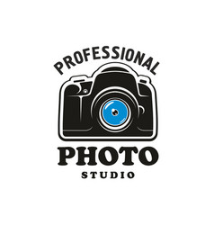 photography and photo studio symbol emblem design vector image vector image
