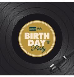 vinyl birthday party vector image