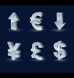 vista monetary arrows vector image vector image