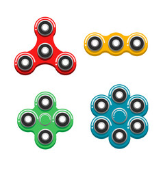 a set of different spinners vector image