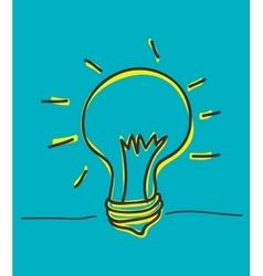 Bulb icon and big idea concept vector image