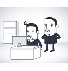 Bussiness Man Boss vector image