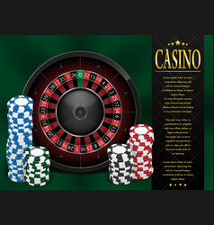 casino gambling poster or flyer design casino vector image