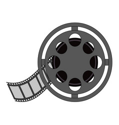 color image cartoon film roll reel vector image