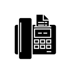 fax icon black sign on vector image
