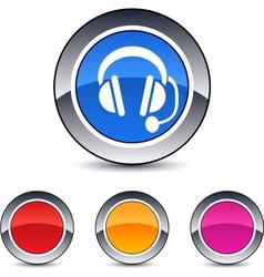 call center round button vector image