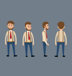 cartoon male character with beard vector image vector image