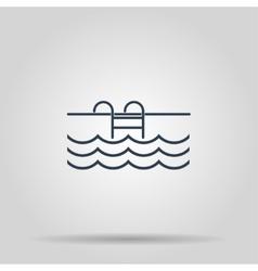 Pool flat icon vector image