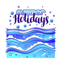 Summer holidays at seaside stylized vector