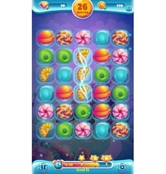 Sweet world mobile GUI playing field vector image