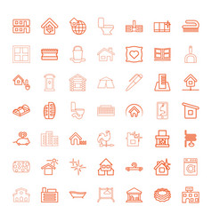 49 house icons vector image