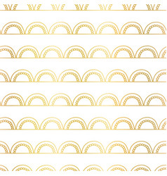 Abstract doodle arcs background seamless gold foil vector