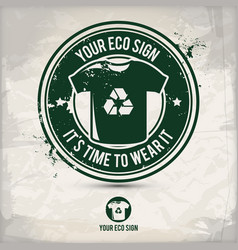 alternative eco sign stamp vector image