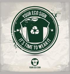 Alternative eco sign stamp vector