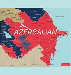 azerbaijan country detailed editable map vector image