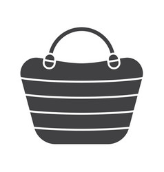 Beach bag glyph icon vector