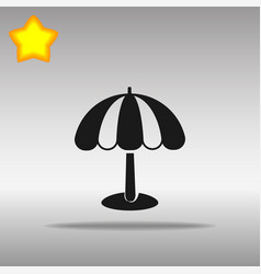 beach umbrella black icon button logo symbol vector image