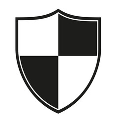 Black and white crossed shield silhouette vector