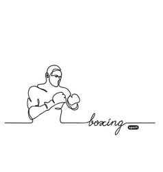 boxer sketch vector image