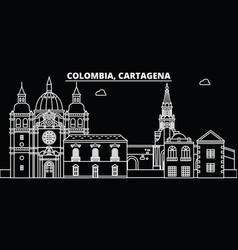 Cartagena silhouette skyline colombia - cartagena vector