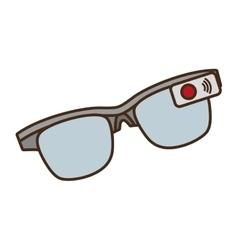 Cartoon ar smart glasses device digital vector