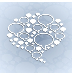 Chat bubble symbol on light grey background vector image