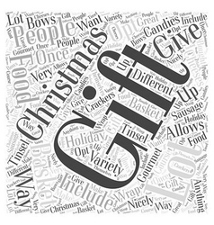 Christmas gift food word cloud concept vector