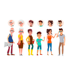 collection of characters person people set vector image