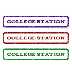 College station watermark stamp vector