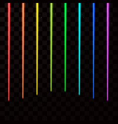 Colorful laser beams abstract laser rays all vector