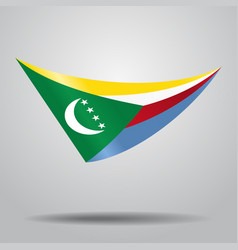 Comoros flag background vector