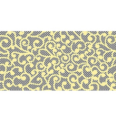 curles on lace seamless background vector image
