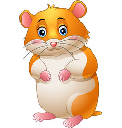 cute hamster cartoon vector image