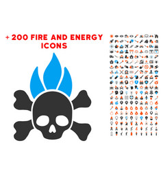 death fire icon with bonus fire clipart vector image