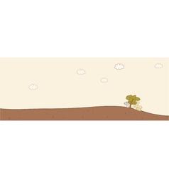 Desert village landscape vector