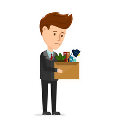 dismissal frustrated concept business man vector image