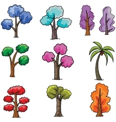 Doodle of tree different collection vector image