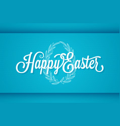 Easter vintage lettering egg ornament background vector