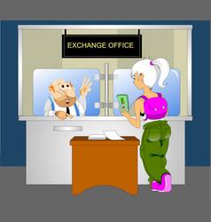 exchange office vector image