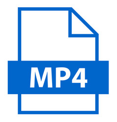 File name extension mp4 type vector