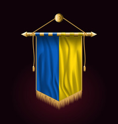 Flag of ukraine festive vertical banner wall vector
